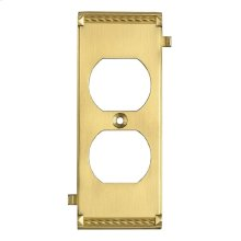 CLICKPLATES BRASS MIDDLE SWITCH PLATE