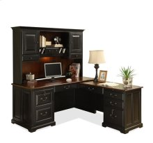 Bridgeport Hutch Burnished Cherry/Antique Black