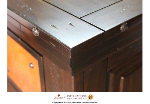 "63"" TV-Stand w/2 Glass doors & 2 Solid wood doors, 2 drawers"