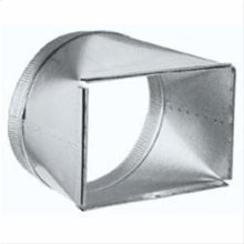 """Transition, 8"""" x 12"""" to 12"""" . For 900 & 1500 CFM High Capacity models"""