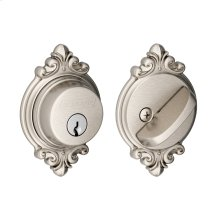 Single Cylinder Deadbolt with Brookshire Trim - Satin Nickel