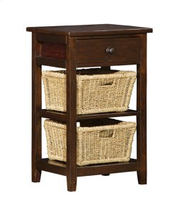 Tuscan Retreat® 2 Basket Stand - Rustic Mahogany Product Image