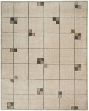 Christopher Guy Wool & Silk Collection Cgs04 Ecru Rectangle Rug 8' X 10'