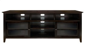 No Tools Assembly Dark Espresso Finish Wood A/V Cabinet