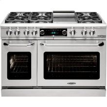 "48"" Range w/ 6 Sealed Burners @ 19K BTU's / hr Dual Fuel Self Clean"