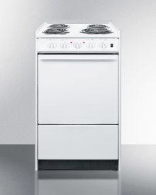 "20"" Wide Slide-in Electric Range In White With Lower Storage Compartment; Replaces Wem115r/wem110rt"