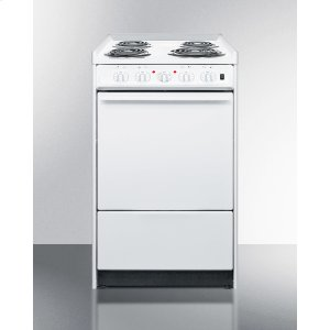 """Summit20"""" Wide Slide-in Electric Range In White With Lower Storage Compartment; Replaces Wem115r/wem110rt"""