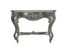 Louis XV Console Table Silver Leaf