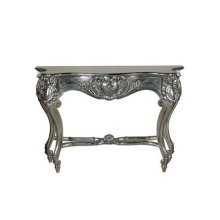 Louis XV Console Table, Silver Leaf