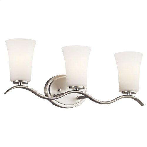 Armida 3 Light Vanity Light with LED Bulbs Brushed Nickel