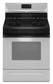 "Universal Silver Whirlpool® 30"" Self-Cleaning Freestanding Gas Range"
