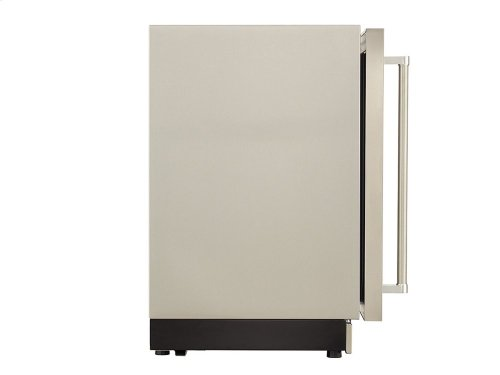 "24"" Undercounter Refrigerator with Glass Door and Metal Trim Shelves - Stainless Steel"