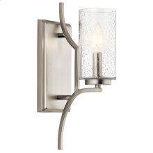 Vara 1 Light Wall Sconce Brushed Nickel