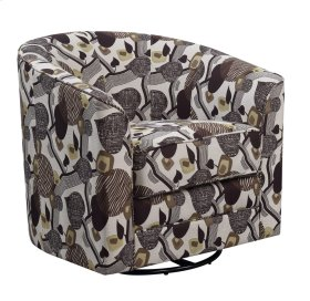 Accent Swivel Chair- Leaf Pattern #k1440-4
