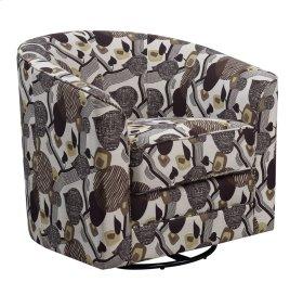 Accent Swivel Chair- Leaf Pattern #k1440-4