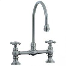 Highlands - Hi-Rise Exposed Gooseneck Kitchen Faucet - Unlacquered Brass