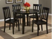 Simplicity Table With 4 Slat Back Chairs