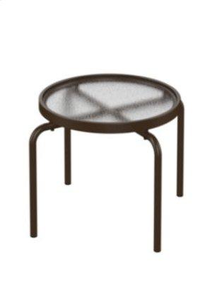 "Acrylic 20"" Round StackingTea Table"