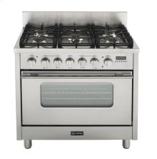 "Gloss Black 36"" Dual Fuel Range with Convection Oven"