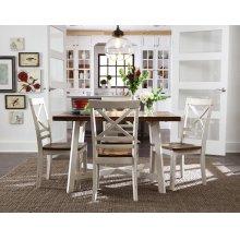 Leg Table W/4 Chairs