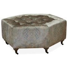 Accent Cocktail Ottoman - ( Regal Summer)