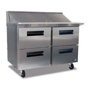 HoshizakiRefrigerator, Two Section Sandwich Top Prep Table with Drawers
