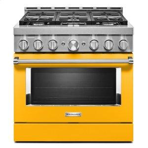 KitchenAidKitchenAid® 36'' Smart Commercial-Style Gas Range with 6 Burners - Yellow Pepper
