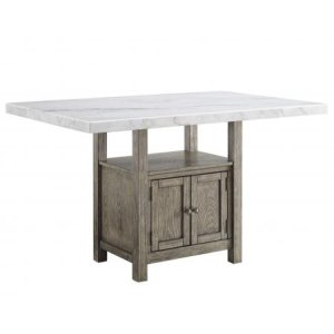 Steve Silver Co.Grayson 60-inch White Marble Counter Storage Table