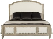 Queen-Sized Santa Barbara Upholstered Sleigh Bed in Sandstone (385)