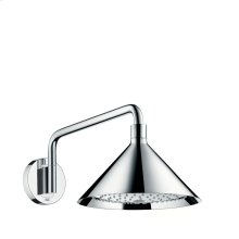Chrome Overhead shower 240 2jet with shower arm