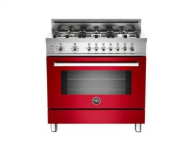 Red 36 6-Burner, Electric Self-Clean Oven