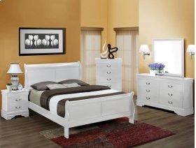 5Pc. Louis Philip White Bedroom Suite