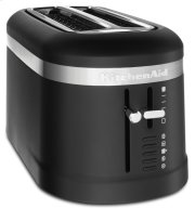 4 Slice Long Slot Toaster with High-Lift Lever - Black Matte Product Image