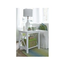 End Table in Pure White