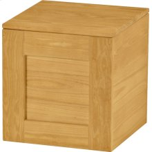 Cube with hinged lid