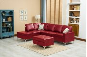 Maya Red Sectional with Storage Ottoman Product Image