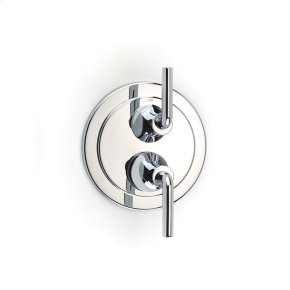 Dual Control Thermostatic with Diverter and Volume Control Valve Trim River (series 17) Polished Chrome