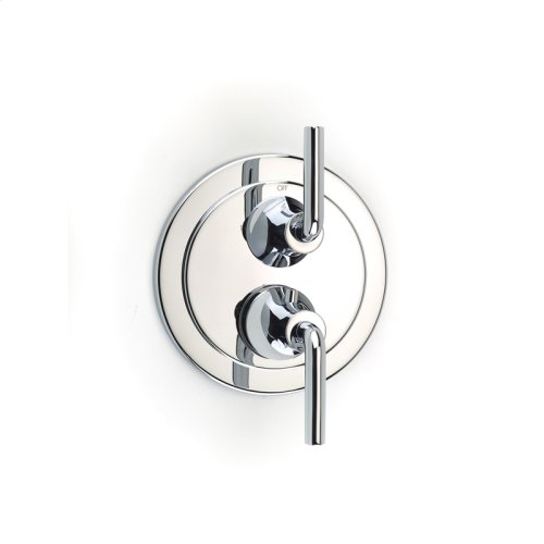 Dual Control Thermostatic With Diverter and Volume Control Valve Trim Taos Series 17 Polished Chrome
