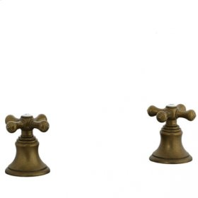 Highlands - Deck Diverter Trim - Aged Brass