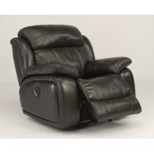Como Leather Power Gliding Recliner