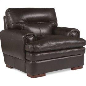 Jake Stationary Occasional Chair w/ Nickel Nail Head Trim