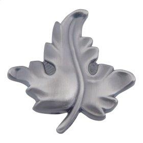 D Oak Leaf Knob 1 3/4 Inch - Pewter