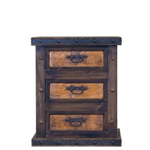 Finca Nightstand with Copper Drawers