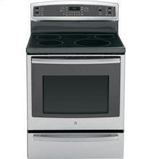 """GE Profile™ Series 30"""" Free-Standing Induction and Convection Range with Warming Drawer"""