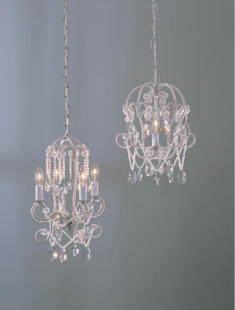 53827 In By Midwest Cbk Manila Ar White Beaded Chandelier 2 Wiring A Light Fixture To Plug Asstd 25w Max With Hard