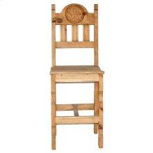 "26"" Wood Seat Star Bar Stool"