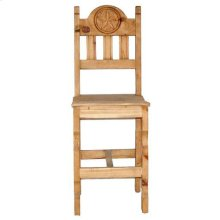 "26"" Wood Seat Star Bar Stool"