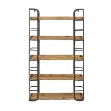 Wall cabinet 5 laags 70x22,5x77 cm ZYRA black+wood
