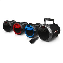 """SPBT1036 Portable Bluetooth HIFI Cylinder 2.1 Speaker with 6"""" Subwoofer and 3"""" Horn"""