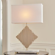 Diamond Rods Lamp-Brass